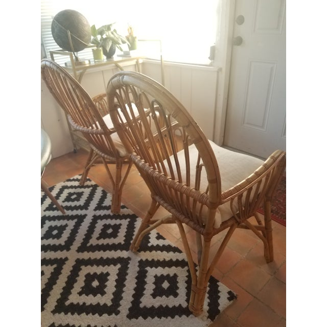 Vintage Rattan Chairs - A Pair - Image 5 of 5