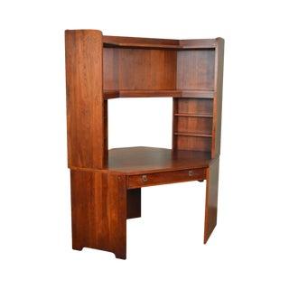 Stickley Solid Cherry Corner Desk w/ Bookcase Top