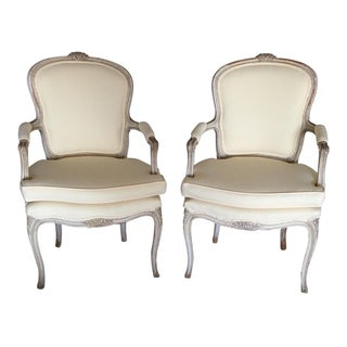 Louis XV Fauteuils Chairs Antique - A Pair