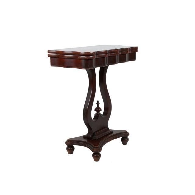 Image of Vintage Flip-Top & Harp Base Side Table
