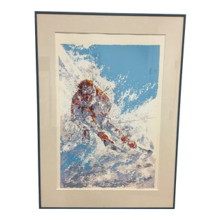 "Mark King ""Skier"" Framed Serigraph"