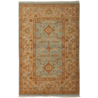 """New Ottoman Hand Knotted Area Rug - 4'2"""" x 6'3"""""""