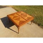 Image of Mid-Century Danish Modern Burl Maple Coffee Table
