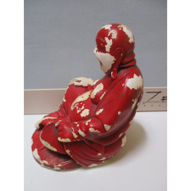 Vintage Red Happy Buddha - Image 7 of 10