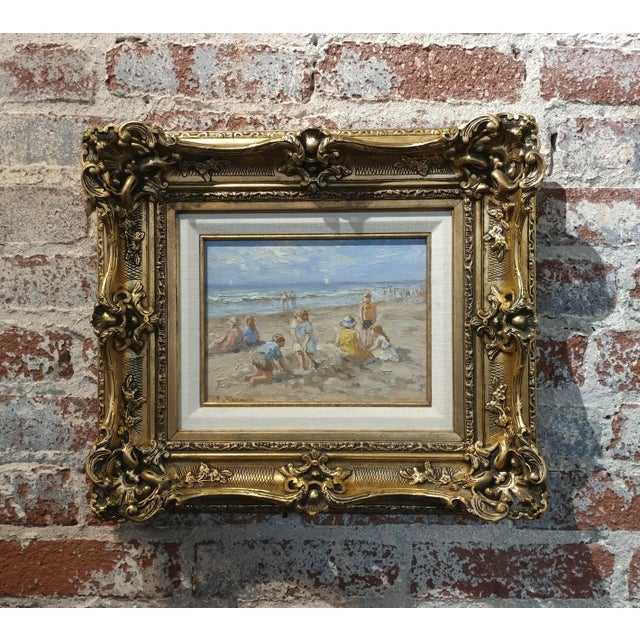 "Anton Karssen ""Children Day at the Beach"" Original Oil Painting - Image 2 of 10"