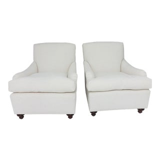 English Country House Style Club Chairs - A Pair