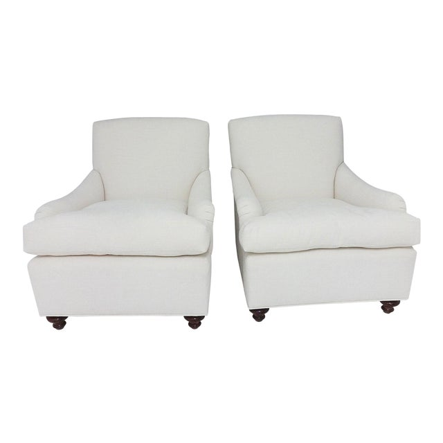 English Country House Style Club Chairs - A Pair - Image 1 of 6