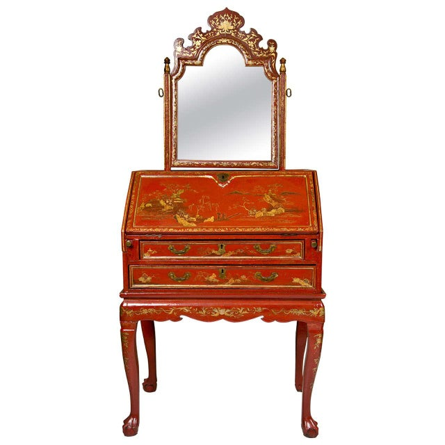 Antique 19th Century Painted Chinoiserie Vanity - Image 1 of 10