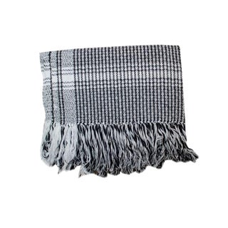 Black Rebozo Sofa Throw
