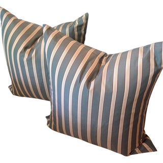 Traditional Custom Striped Pillows - A Pair