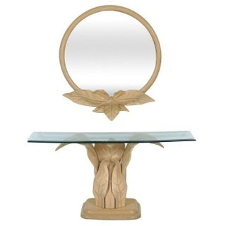 Hollywood Regency Style Console and Mirror