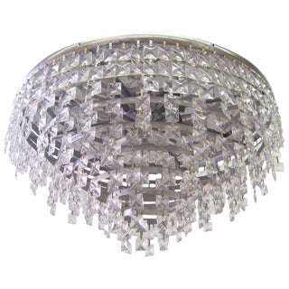 Impressive 1970s Glass Ceiling Lamp