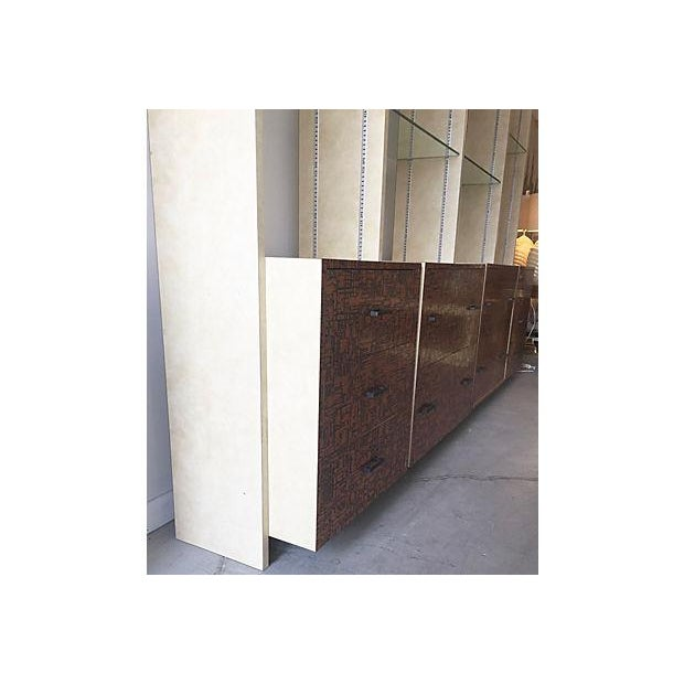 Brutalist Bookcase Wall Unit - Set of 4 - Image 4 of 8