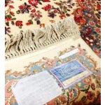 """Image of Vintage Karastan Ivory Kirman Area Rug - 5'9"""" x 9'"""