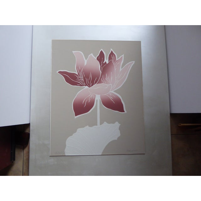 1983 Large Graphic Floral Serigraph I - Image 2 of 7