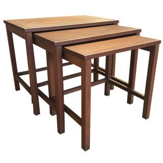 Simple  Wood Nesting Tables - Set of 3