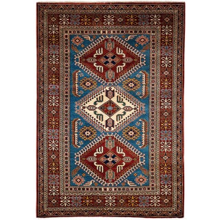 """New Traditional Hand Knotted Area Rug - 4'3"""" x 6'2"""""""