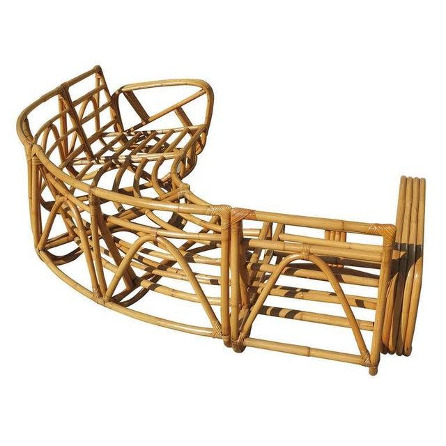 Paul Frankl Four Strand Rattan Six-Seat Corner Sectional Sofa - Image 5 of 9