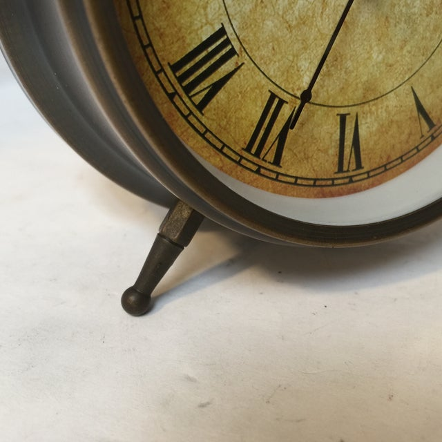 Antique Style Brushed Brass Alarm Clock - Image 5 of 9