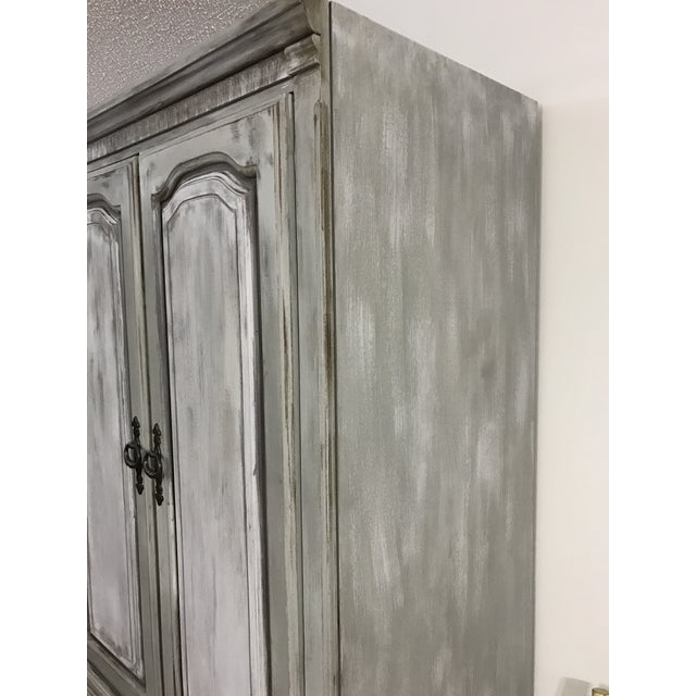 Distressed Shabby Chic Armoire - Image 10 of 11
