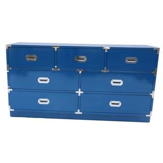 Bernhardt Blue Campaign Dresser Credenza