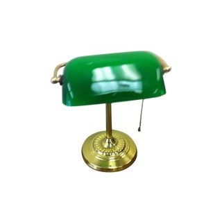 Vintage Early American Library Table Lamp