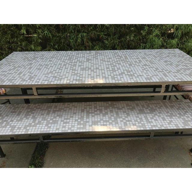 Iron & Mosaic Tile Dining Set - Set of 5 - Image 11 of 11