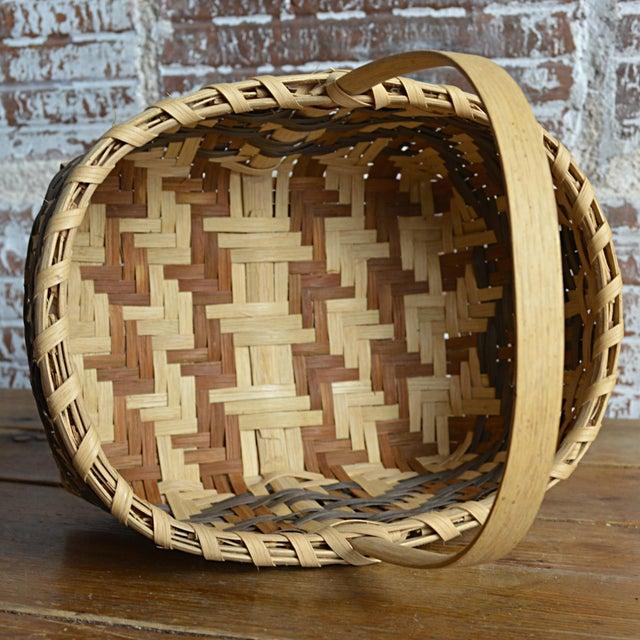 Carol Welch Cherokee White Oak Small Market Basket - Image 9 of 9