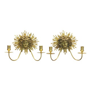 Neoclassical Gilt Bronze Candle Sconces - A Pair