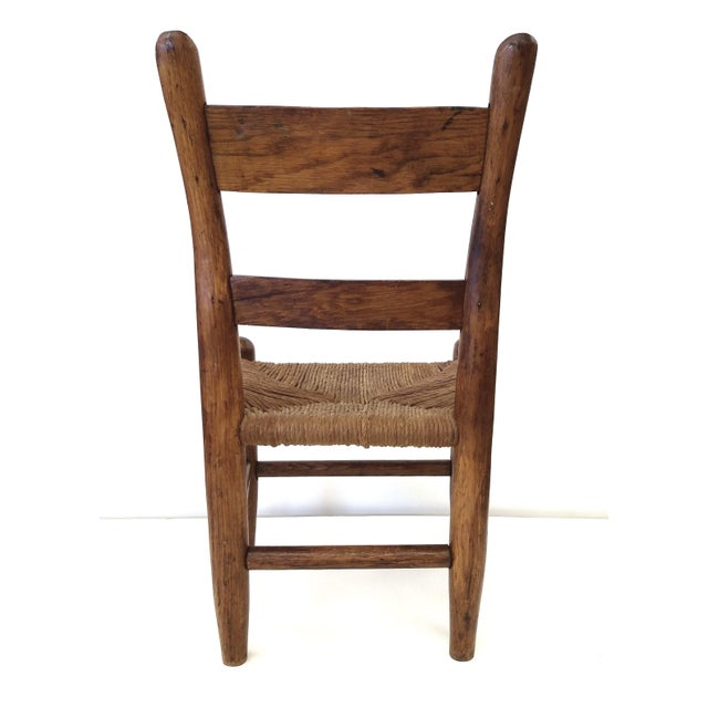 Antique French Farm Child's Chair - Image 8 of 10