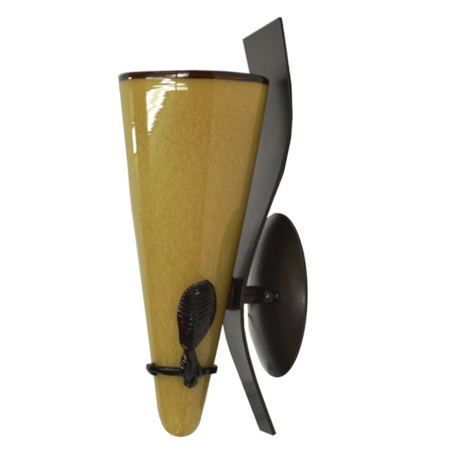 Leaf Wall Sconce by Bacchus Glass - Image 1 of 5