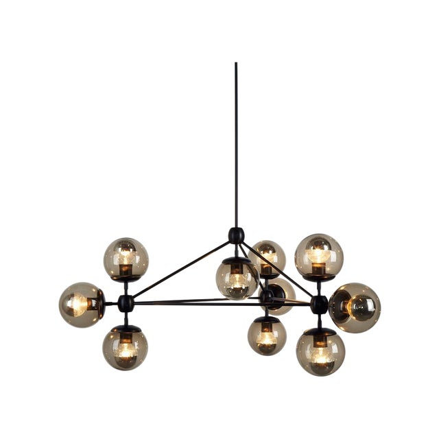 3 Sided, 10 Globe Modo Chandelier - Image 1 of 6