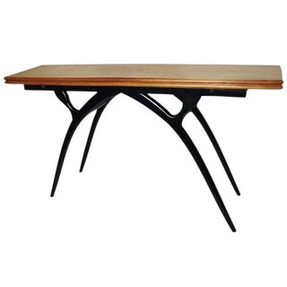 Flip Top Table with Sculptural Legs