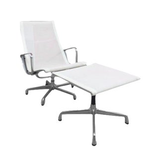 Eames Herman Miller Aluminum Group Chair & Ottoman