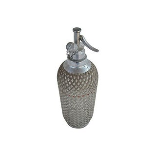 Vintage Seltzer Bottle With Wire Mesh