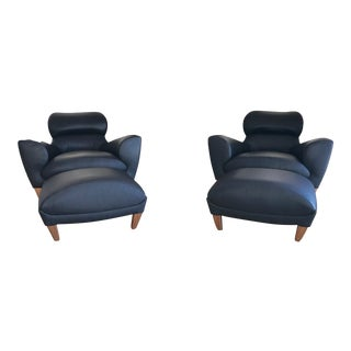 Linley Aston Chairs & Ottomans - Set of 4