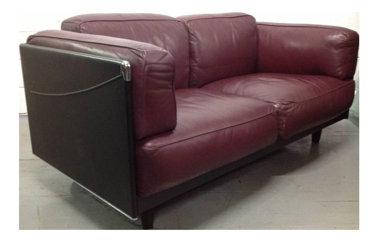 Leather Sofa By Poltrona Frau   Image 1 Of 5