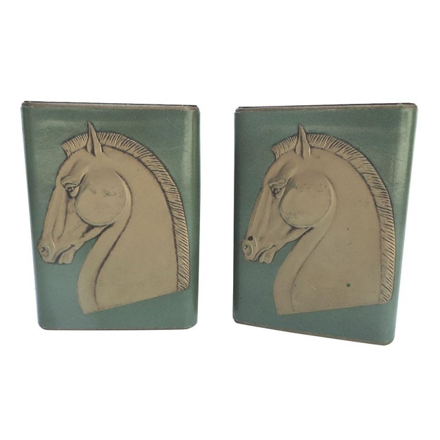 Image of Mid-Century Trojan Horse Bookends