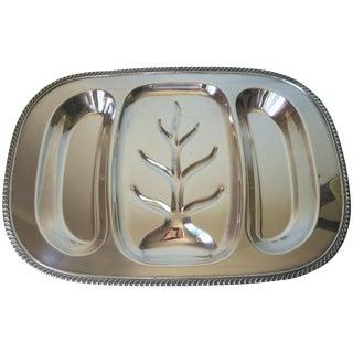 Vintage Large Silver Meat Serving Platter