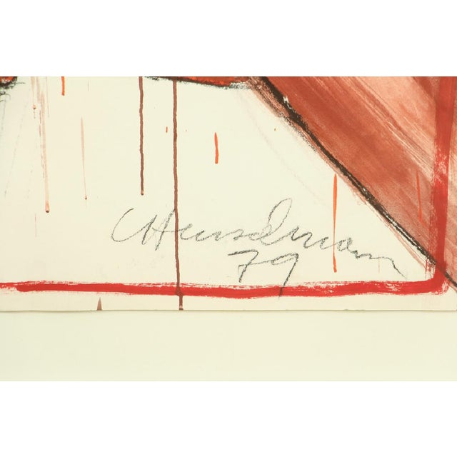 Image of 1979 Signed and Framed Caspear Henselmann, the Clamp Drawing