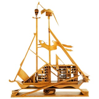 Jan De Swart Monumental Sculptural Ship