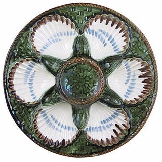 Longchamp French Majolica Oyster Plate