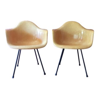 1950's Herman Miller Eames Molded Fiberglass Chairs - A Pair