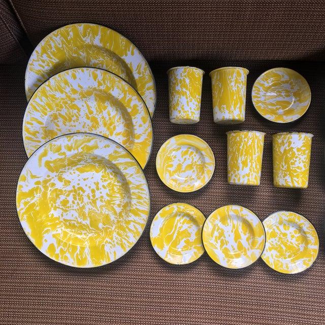 Vintage Yellow Enamelware - Set of 15 - Image 10 of 10