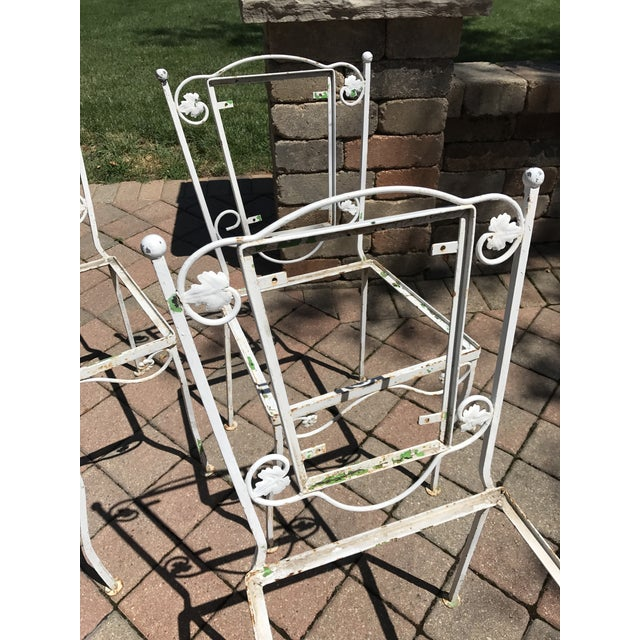 Vintage Wrought Iron Chairs - Set of 4 - Image 6 of 8
