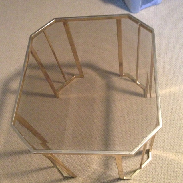 Glass & Brass Side Table - Image 6 of 7