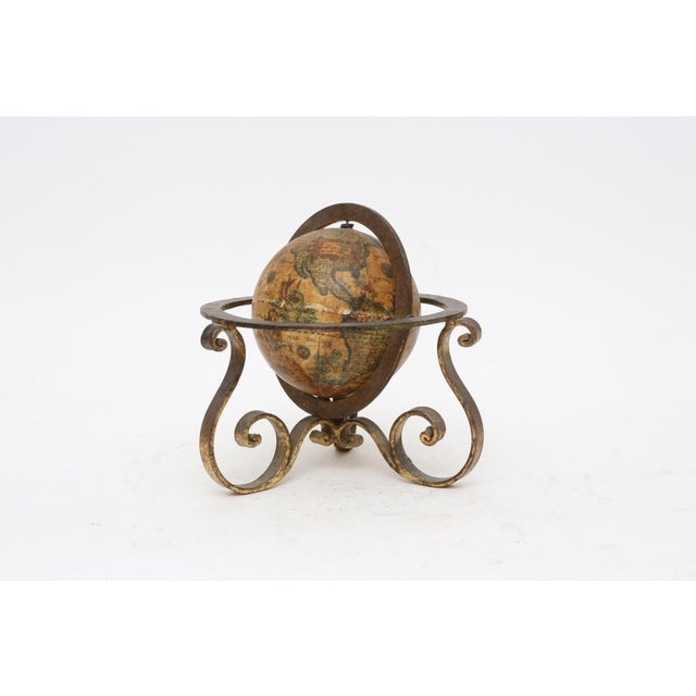 Italian Mini Old World Globe with Brass stand - Image 2 of 10