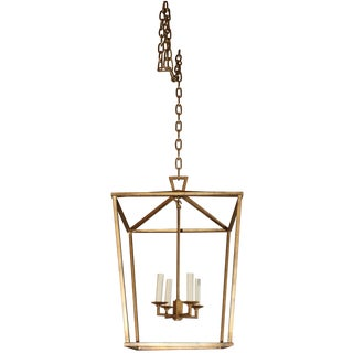 Gilded Iron Foyer Lantern Ceiling Light