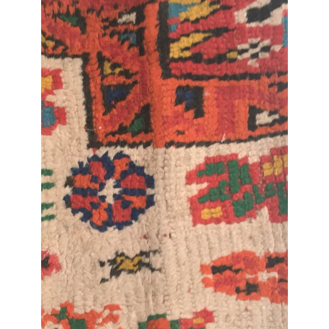 Vintage Moroccan Rug Wool Pillow - Image 3 of 11