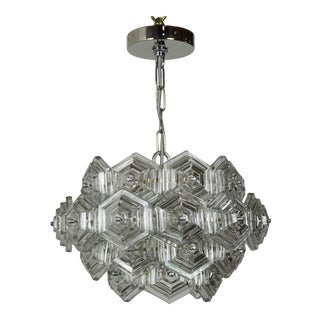 German Glass Prism Chandelier